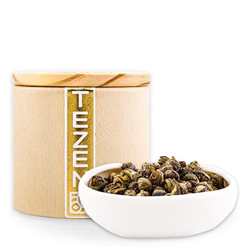Kaiserliche Jasmin Perlen: Grüner Jasmin Tee aus China | Hochwertiger chinesischer Grüntee mit Jasmin Blüten getrocknet