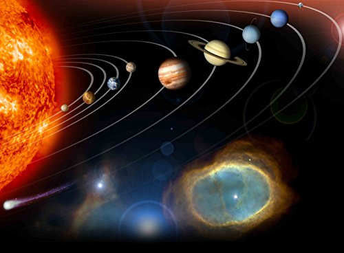 Adult Jigsaw Puzzle Milky Way Galaxy Solar System Planets Sun 500-Pieces