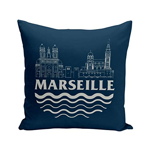 Fabulous Coussin 40x40 cm Marseille Minimalist France Ville Pastis Om