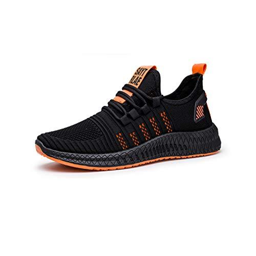 ZOOARTS Zapato Tenis Calzado Deportivo de Hombre para Mujer Unisex Zapatillas Deportivas (9.5, Orange)