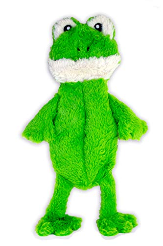 FGA MARKETPLACE Frog Flat NO Stuffing NO Squeak Plush Dog Toy, Funny Style Will Entertain Your Dog for Hours, Recommended for Small and Medium Dog 21 INCH Long