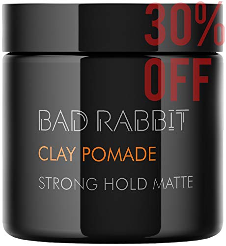 Hair Clay Styling 3.5OZ– Clay Hair Pomade for Men Molding Pliable Cream Texture Strong high to Soft Hold – Natural Look – Hair Wax Paste Ultra Lightweight - Mens Hair Products - Matte Finish (White)