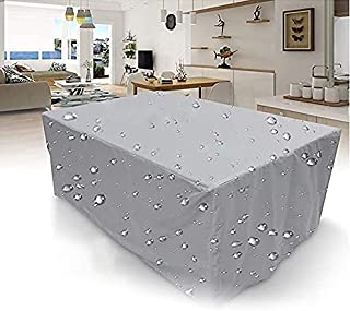 Virtetic Outdoor Patio Furniture Cover with Drawing Rope, Heavy Duty Patio Table Covers, 210D Fabric, Waterproof, Windproo...