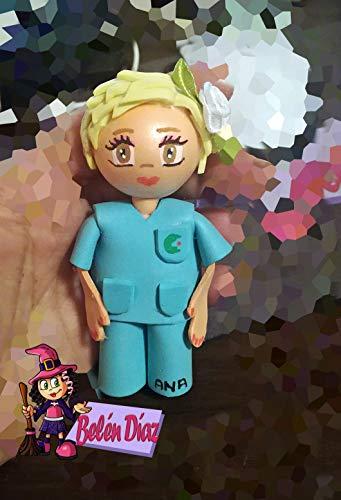 Broche Enfermera o doctora fofucha 10 cms. personalizado