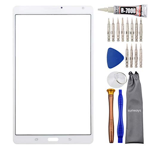 Sunways Glass Screen with Tool Kit Replacement for Samsung Galaxy Tab S 8.4(No Earpiece Hole) SM-T700 White
