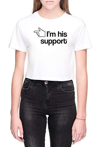 Im His Support Mujer Camiseta De Tirantes Blanco Tamaño M Women's Tank T-Shirt White