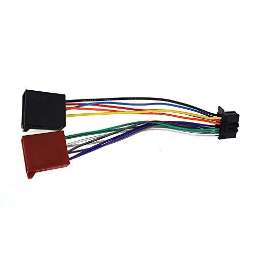 ZWNAV Receptor de radio estéreo para automóvil Cable de mazo de cables de repuesto para Pioneer DEH-series 16 pines a ISO Cableado Cableado Cable de alimentación Adaptador de corriente Conector de radio para PIONEER DEH-series 2010+ Arnés de cables