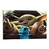 DRAGON VINES Star Wars Baby Yoda Toy - Póster holográfico de la nave espacial (20 x 30 cm)
