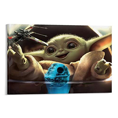 DRAGON VINES Star Wars Baby Yoda Toy - Lienzo decorativo (30 x 45 cm)