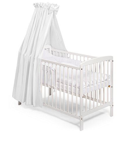 KOKO Babybett Gitterbett Beistellbett JULIA 120x60 cm weiss