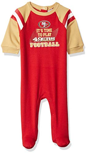 Gerber Childrenswear NFL San Francisco 49Ers Boys 2018Sleep & Play, Red, 6-9 Months