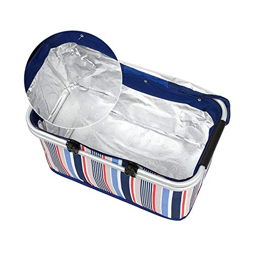 BANGSUN Cesta plegable para picnic de 32 l, bolsa de la compra