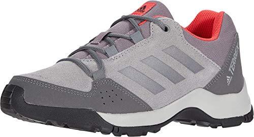 adidas outdoor Unisex-Kid's Terrex Hyperhiker Low Leather K Hiking Boot, Grey Three/Grey Three/Shock Red, 10.5 M US Little Kid