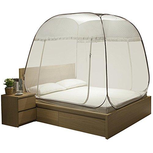 Installation gratuite yute moustiquaire Moustiquette à tiroirs à trois portes pour 1,8 lit (Couleur : 1001)