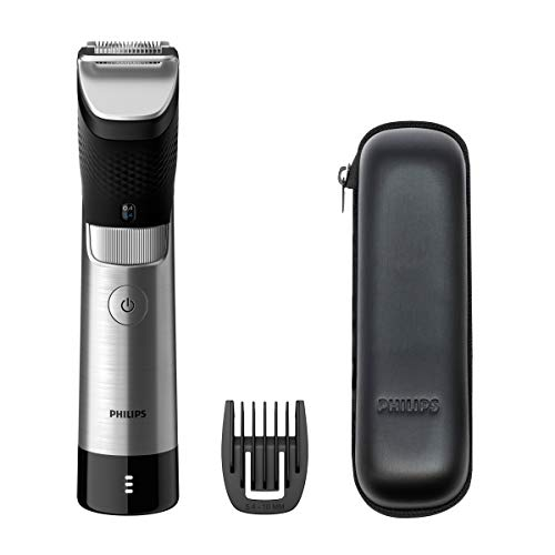 Philips Barbero Serie 9000 BT9810/15 - Recortadora de barba con 30 posiciones de longitud, sensor power adapt que se adapta a...