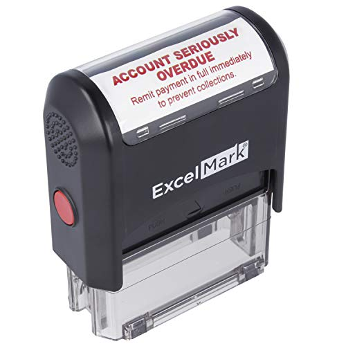 Account Seriously OVERDUE - Self Inking Bill Collection Stamp in Red Ink