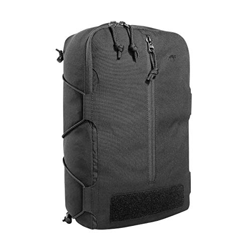 Tasmanian Tiger TT Tac Pouch 14 Rucksack Zusatz-Tasche mit Molle-Reverse-System, 10L Volumen, Zubehör-Tasche für EDC oder medizinische Ausrüstung, 37 x 22,5 x 10 cm, Schwarz
