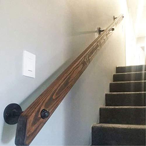 Pasamanos de madera antideslizantes para escaleras interiore