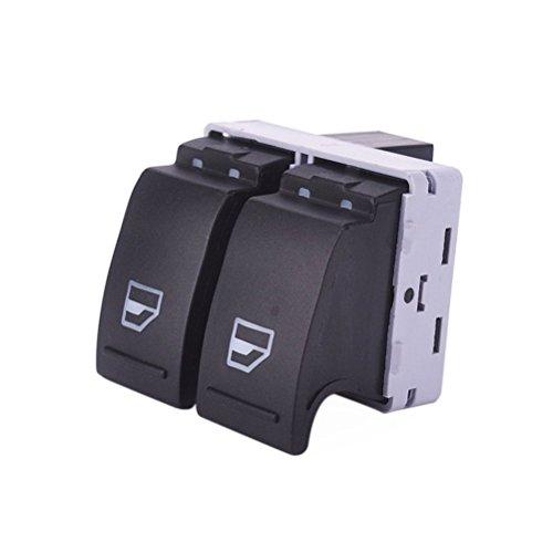 LEORX Para ventanillas de coche interruptor para Volkswagen VW Transporter T52005–2009/Transporter T62009–2014(Negro)