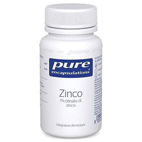 Pure Encapsulations - Zinco - Integratore Alimentare Ipoallergenico di Zinco Picolinato per il Sistema Immunitario - 30 Capsule Vegetariane