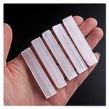 Cristallo naturale grezzo 1 lotto naturale bianco Selenite bastoncini ruvido campione minerale gambo di cristallo a forma di forma irregolare pendente, ( Farbe : Selenite 40-60mm , Größe : 20Pcs )