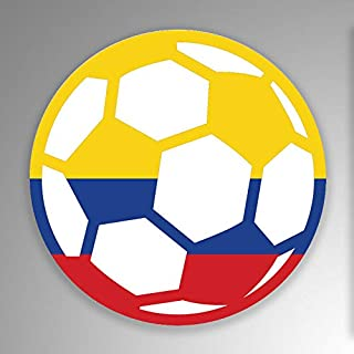 JB Print Magnet Colombia Soccer Ball Flag Vinyl Decal Sticker Car Waterproof Car Decal Magnetic Bumper Sticker 5