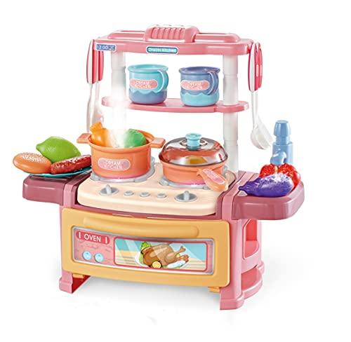 NW Set di Giochi da Cucina per Bambini Accessori per Utensili da Cucina Simulati, Giocattoli per Bambini con Suono (Blu)