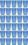 idea-station Neo Vasos plastico 30 Piezas, 250 ml, Azul, Reutilizable, inastillable, Duro, vajilla,...