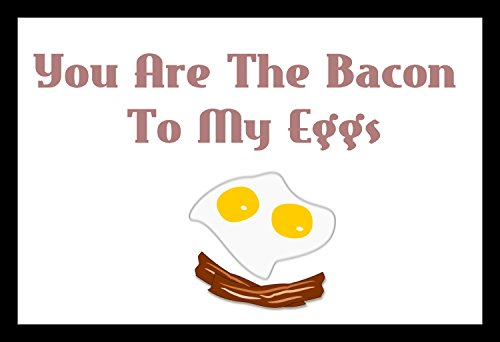 You are The Bacon To My Eggs Quote Design Colorful Home Decor Country Rustic wood Sign minimalist black and white Clean classic Wall Art