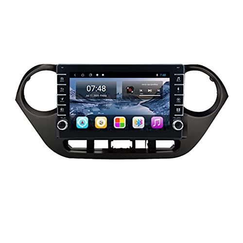 para Hyundai Grand I10 Car Radio 2013-2016 Radios De Automóviles con Navegación Android 9.0 2din DVD CD Stereo Player Multimedia Bluetooth(Size:Ocho núcleos,Color:WiFi:4GB+64GB)