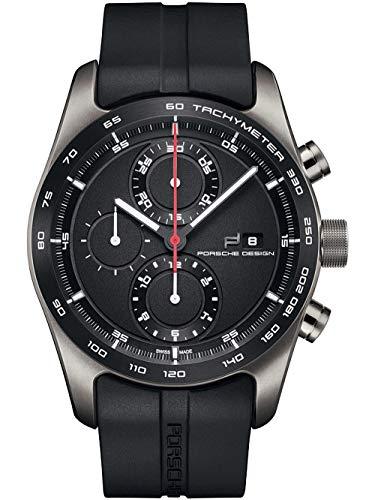 Porsche Design Chronotimer Series 1 Automatik Uhr, Poliertes Titan,Schwarz