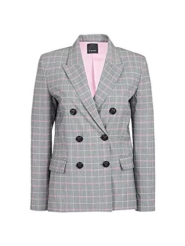 Pinko Interrogazione Abrigo, Multicolor (Grigio/Rosa In1), 40 (Talla del Fabricante: 44) para Mujer