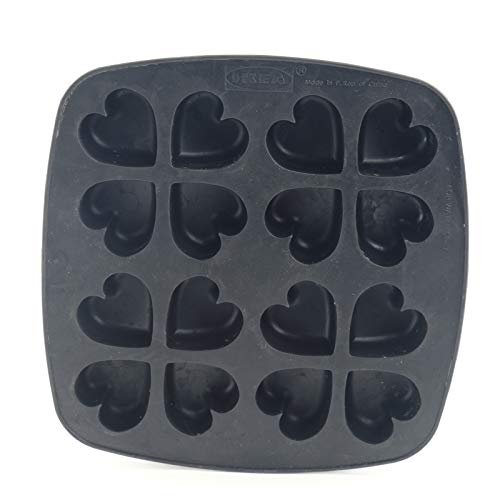IKEA Rubber Ice Cube Tray Heart Shapes Mold - 2 Pack