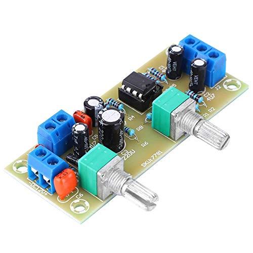 Vorverstärker NE5532, DC10-24V Leiterplatte, Subwoofer Vorverstärkerplatinenmodul mit Tiefpassfilter zur Lautstärkeregelung 22Hz-300Hz