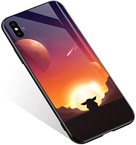 Carcasa para iPhone Xs, diseño de personajes de película anime 549, carcasa para iPhone X, vidrio templado y silicona suave TPU absorción de golpes, funda protectora compatible con iPhone X/XS