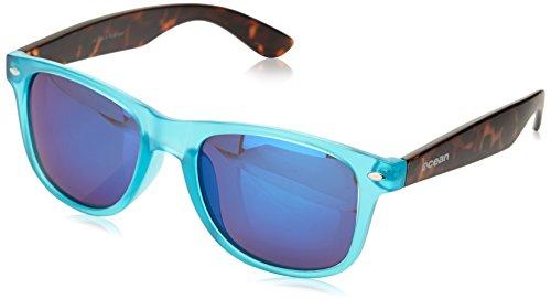 Ocean Sunglasses - Blue Moon - lunettes de soleil polarisées - Monture : Noir/Jaune - Verres : Fumée (19202.23)