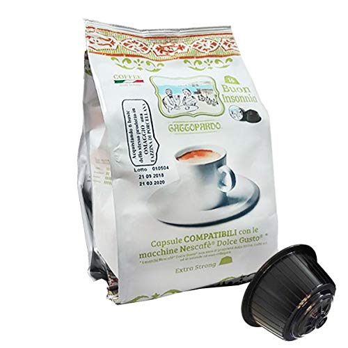 Gattopardo 128 Capsule Caffè, Insonnia, Compatibili Dolce Gusto - 1000 gr