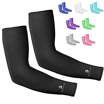 Cooling Arm Sleeves for Men & Women Tatoo Cover up 1 Pair  Black