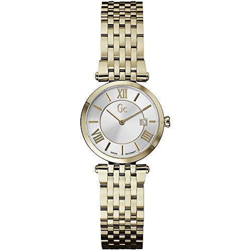 GUESS Collection dames 28MM goud roestvrij staal armband & horloge datum X57002L1S
