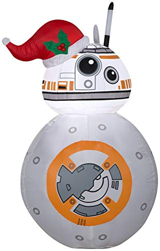 BB-8 with Santa Hat Star Wars Inflatable