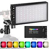 Pixel G1s RGB Video Light, Built-in 12W Rechargeable Battery LED Camera...