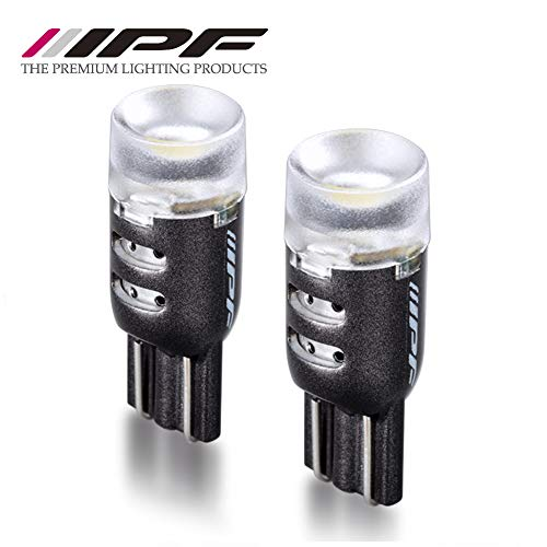 M's Basic by IPF Position Lamp, LED T10 Bulb, 6,500K, 130 Lumens, Fully Reflective Lens for Rear Illumination, AMZ-PL001, High Ace, Prius, etc.