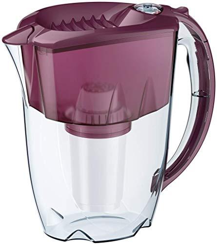 AQUAPHOR Prestige Cherry inkl. 1 A5 Filterkartusche-Komfort-Wasserfilter zur Reduzierung von Kalk, Chlor & weiteren Stoffen, Kunststoff, 2,8 l