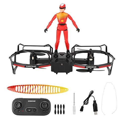 Emoshayoga RC Stunt Parapente Drone Motor sin escobillas Drone Principiantes y Regalo para niños(Red)
