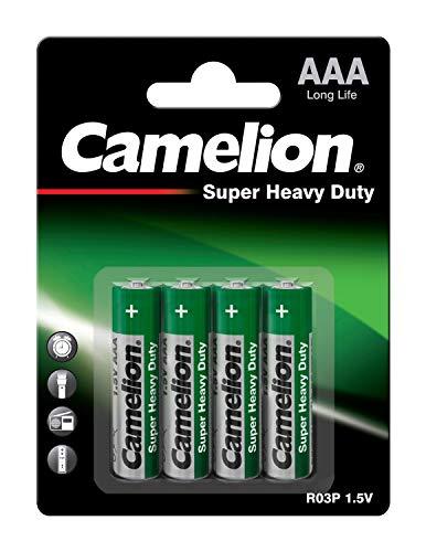 Camelion 10000403 Super heavy duty Batterien R03/Micro, 4er-Pack