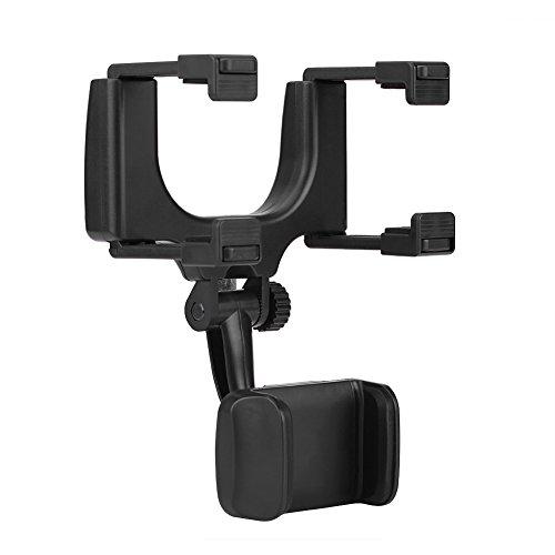 Yctze Soporte para teléfono con montaje en espejo retrovisor para coche Soporte universal para teléfono con montaje en espejo retrovisor para coche para iPhone Samsung HTC GPS Smartphone