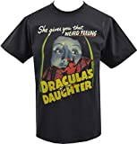 MMbvc Mens Black T-Shirt Draculas Daughter Vintage Horror B-Movie Vampire Goth S-5XL