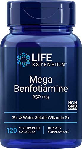 Life Extension Mega Benfotiamine 250 mg, 120 Vegetarian Capsules, Package may vary