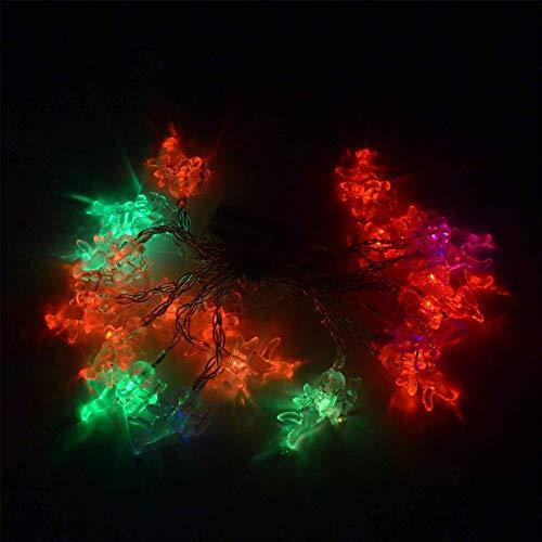 Shatchi 6217-LED-LICHTS-ANGLE-MULTI-1PK 3,3 m Batterij Bediende Engel 20 Multi Kleur LED Fairy String Licht Decoraties
