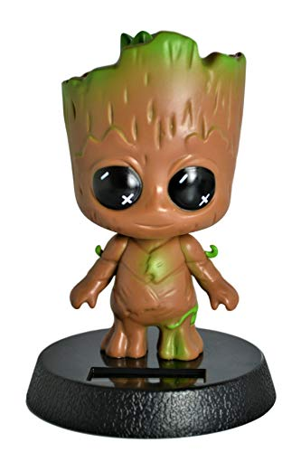 SM.Y.Toys & Accessories Cute Solar Powered Groot Bobblehead Home Office Ultra Detail Collectible Relaxing Toy . (Solar Groot)